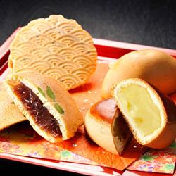 [創味菓庵] 栗と芋のまんじゅうセット