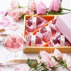 [創味菓庵] 薔薇のジュレゼリー